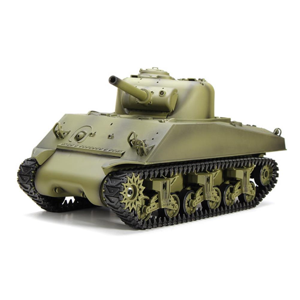 rc-cars Heng Long 3898-1 2.4G 1/16 US Sherman M4A3 Tank Radio Control Battle Tank RC1036278