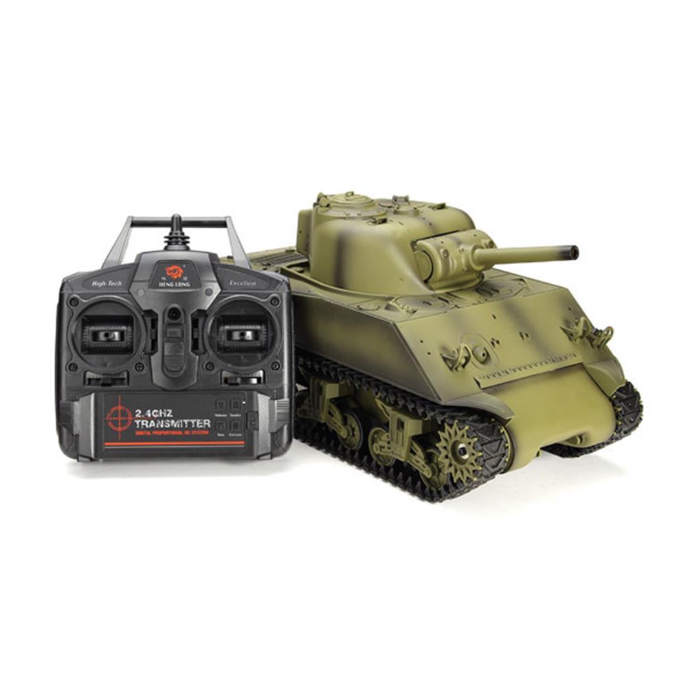 rc-cars Heng Long 3898-1 2.4G 1/16 US Sherman M4A3 Tank Radio Control Battle Tank RC1036278 1