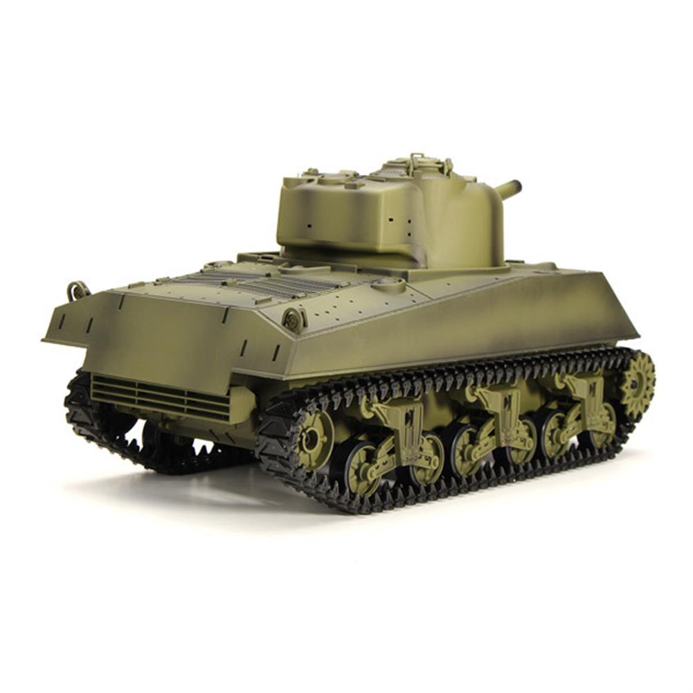 rc-cars Heng Long 3898-1 2.4G 1/16 US Sherman M4A3 Tank Radio Control Battle Tank RC1036278 3