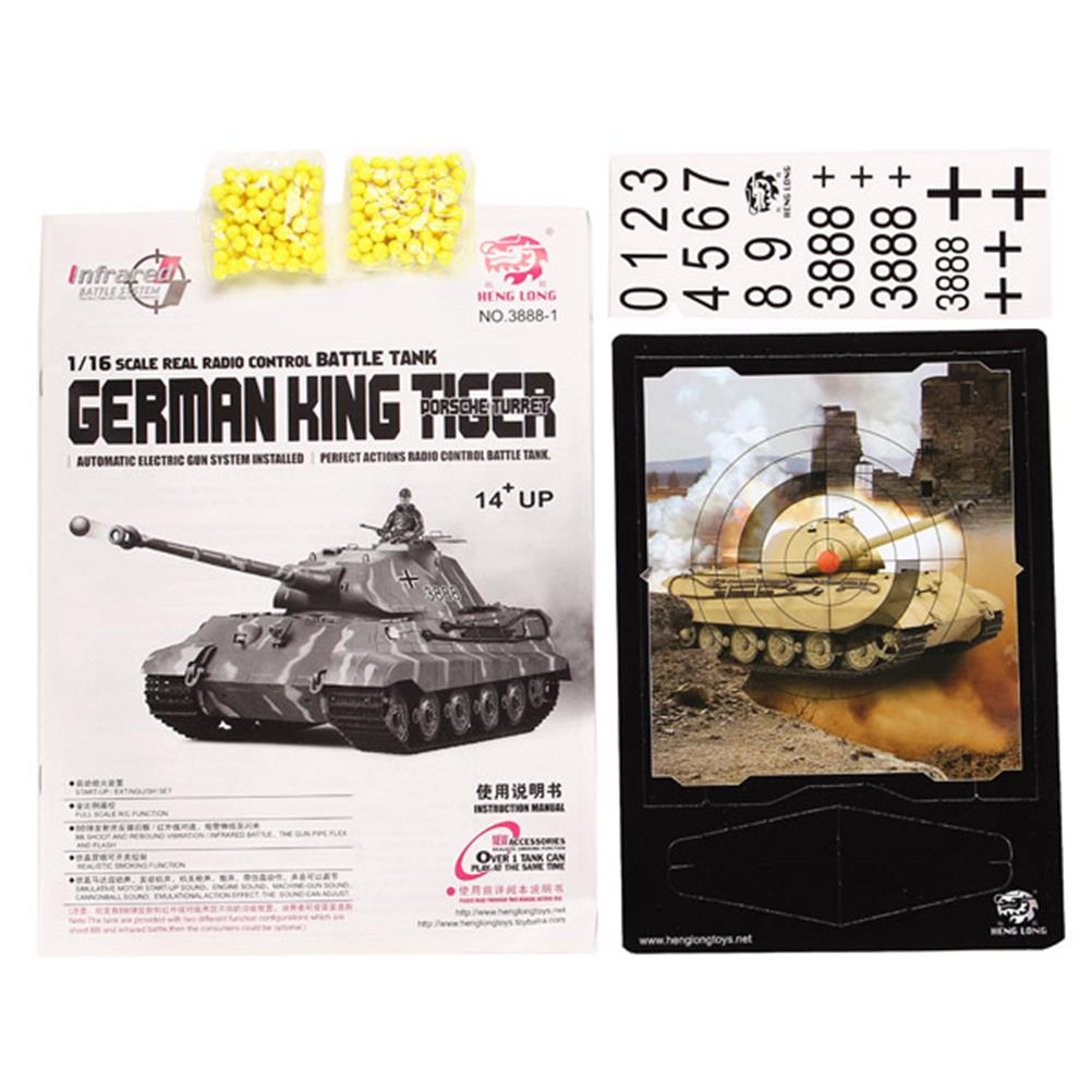 rc-cars Heng Long 1/16 2.4G 3888-1 German King Tiger Battle Tank RC1061808 8