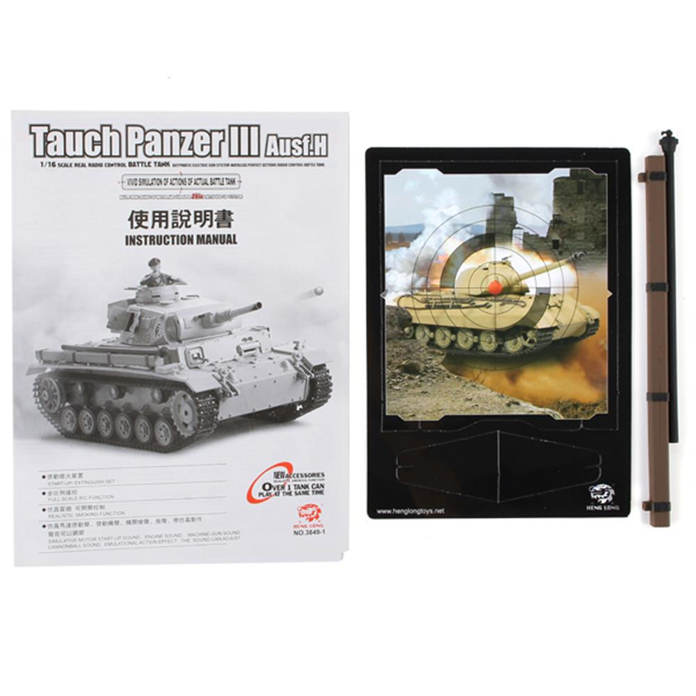 rc-cars Heng Long 1/16 2.4G 3849-1 Tauch Panzer III Ausf.H RC Battle Tank RC1084887 9