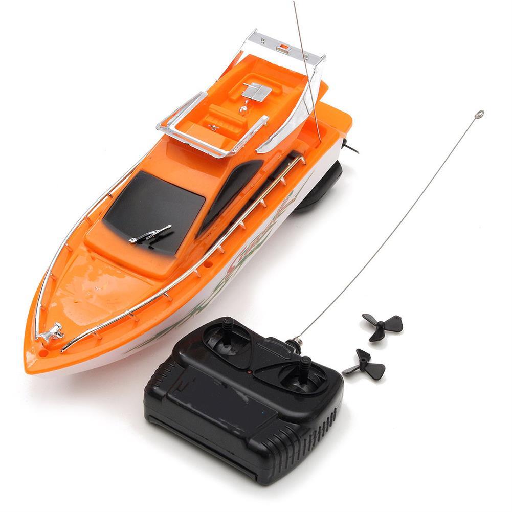 rc-boat 26x7.5x9cm Orange Plastic Electric Remote Control Kid Chirdren Toy Speed Boat RC1104283