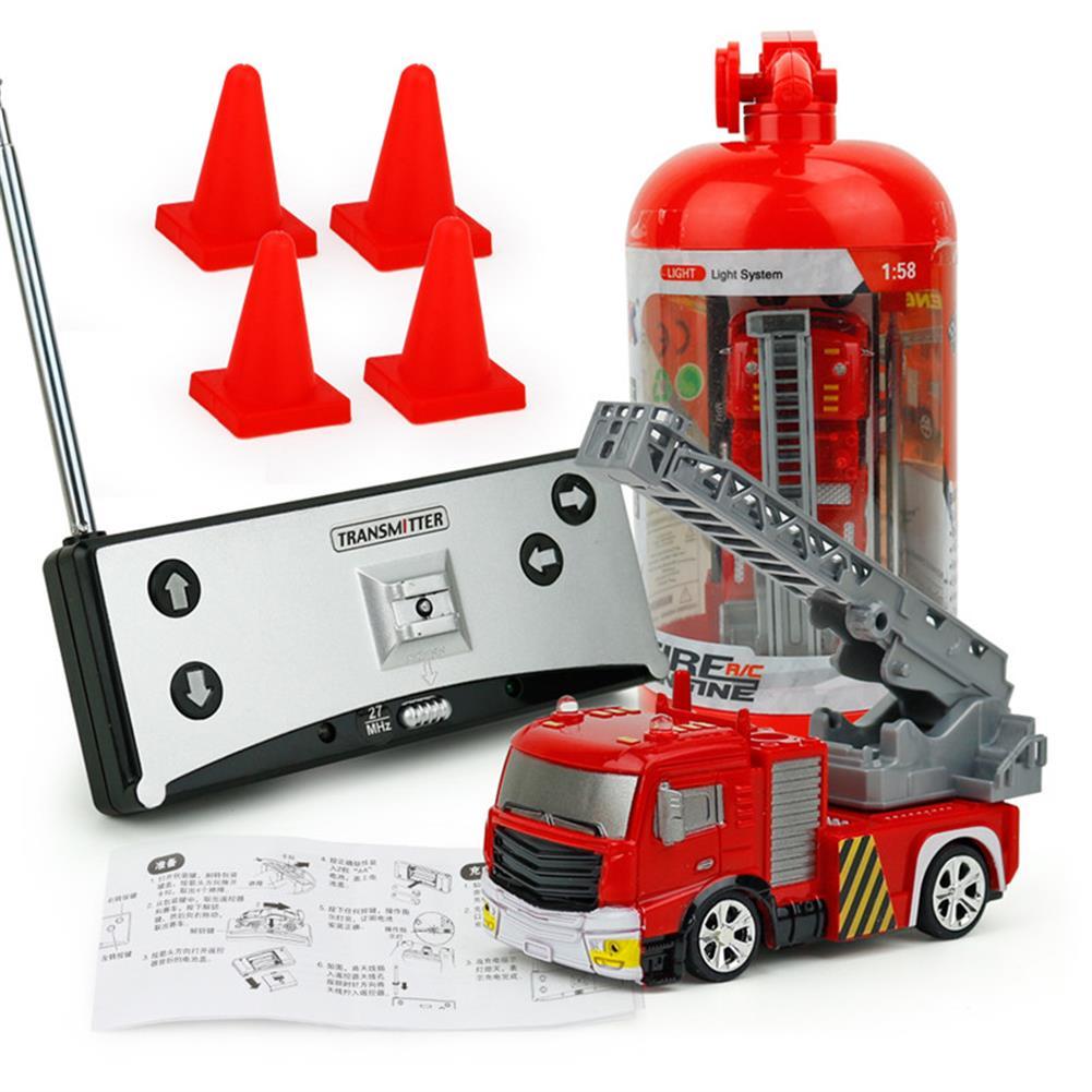 rc-cars Coke Can Shenqiwei 8027 1:58 Aerial Ladder Fire-Truck RC Car Mini 4 Channel RC1229753 6