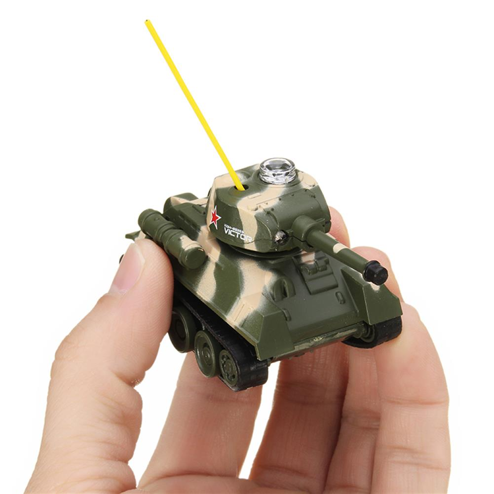 rc-tank Happy Cow 27MHZ 777-215 Mini Radio RC Army Battle Infrared Tank With Light Model Toys For Kids Gift RC1259598