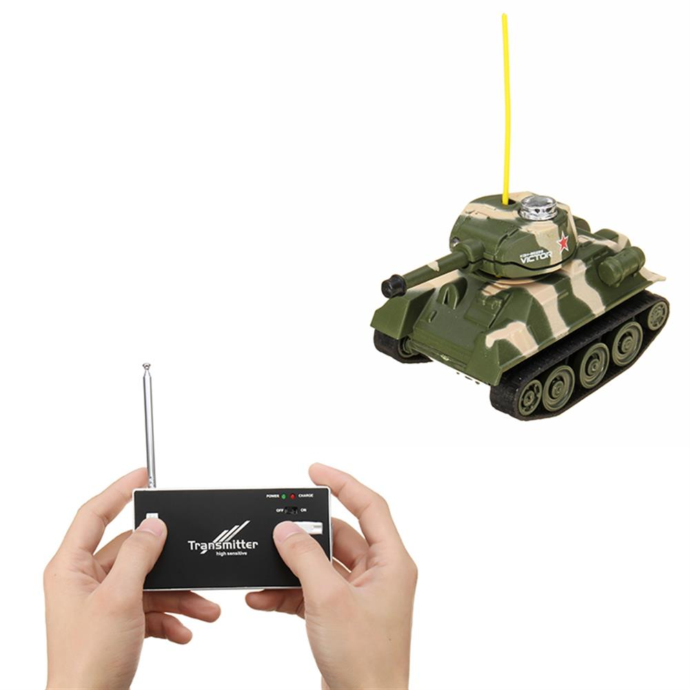 rc-tank Happy Cow 27MHZ 777-215 Mini Radio RC Army Battle Infrared Tank With Light Model Toys For Kids Gift RC1259598 1