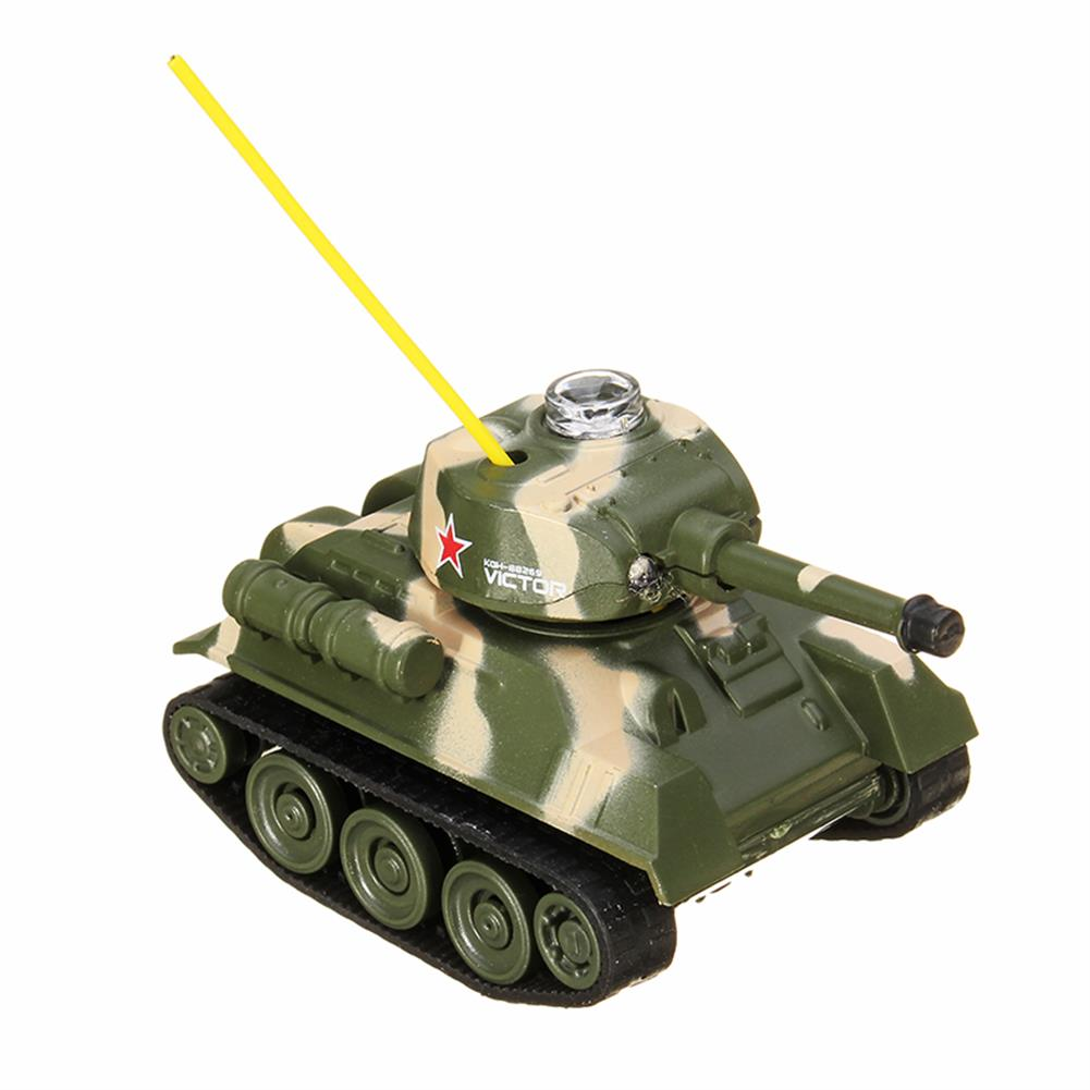 rc-tank Happy Cow 27MHZ 777-215 Mini Radio RC Army Battle Infrared Tank With Light Model Toys For Kids Gift RC1259598 4