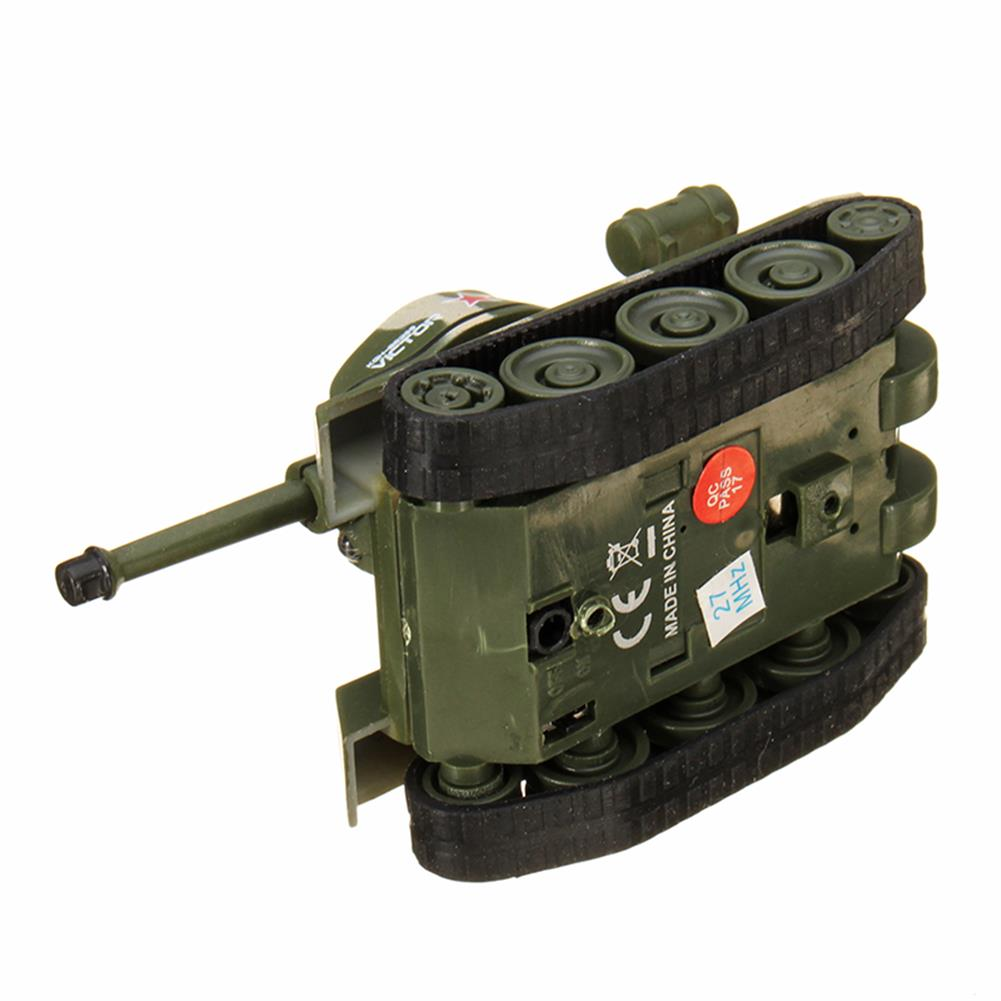 rc-tank Happy Cow 27MHZ 777-215 Mini Radio RC Army Battle Infrared Tank With Light Model Toys For Kids Gift RC1259598 7