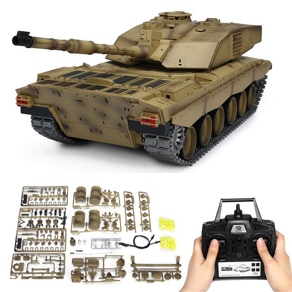 rc-tank Henglong 3908-1 1/16 2.4G Smoking British Challenger 2II RC Car Battle Tank  Metal Gearbox Toys RC1270116