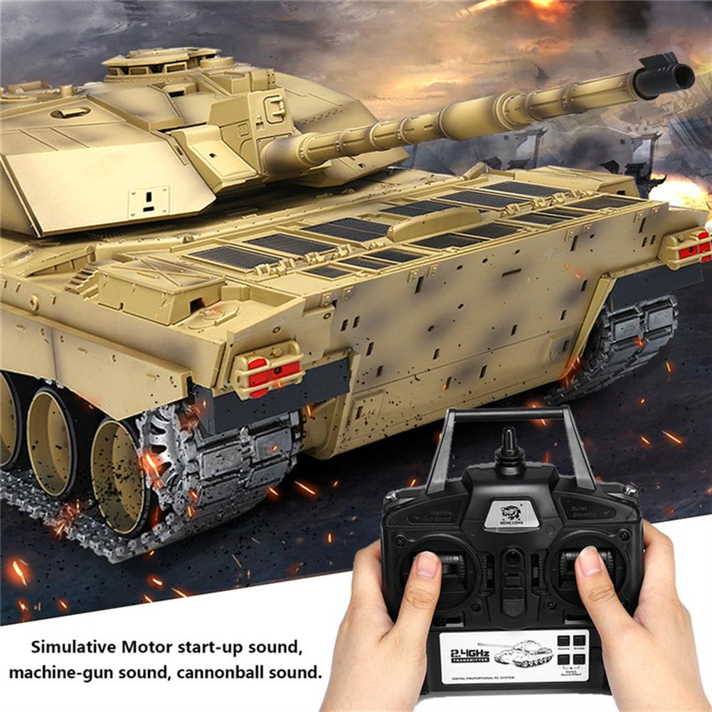 rc-tank Henglong 3908-1 1/16 2.4G Smoking British Challenger 2II RC Car Battle Tank  Metal Gearbox Toys RC1270116 1