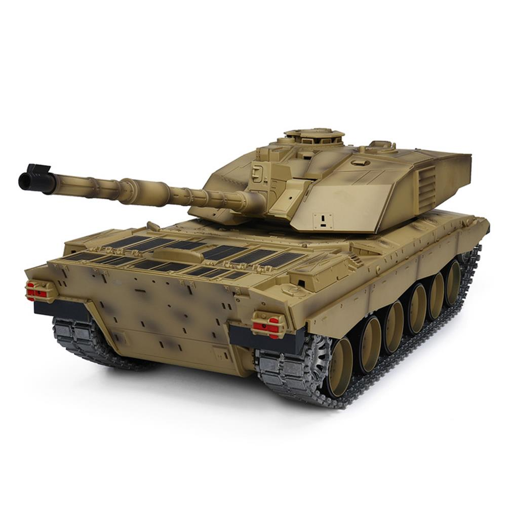 rc-tank Henglong 3908-1 1/16 2.4G Smoking British Challenger 2II RC Car Battle Tank  Metal Gearbox Toys RC1270116 2