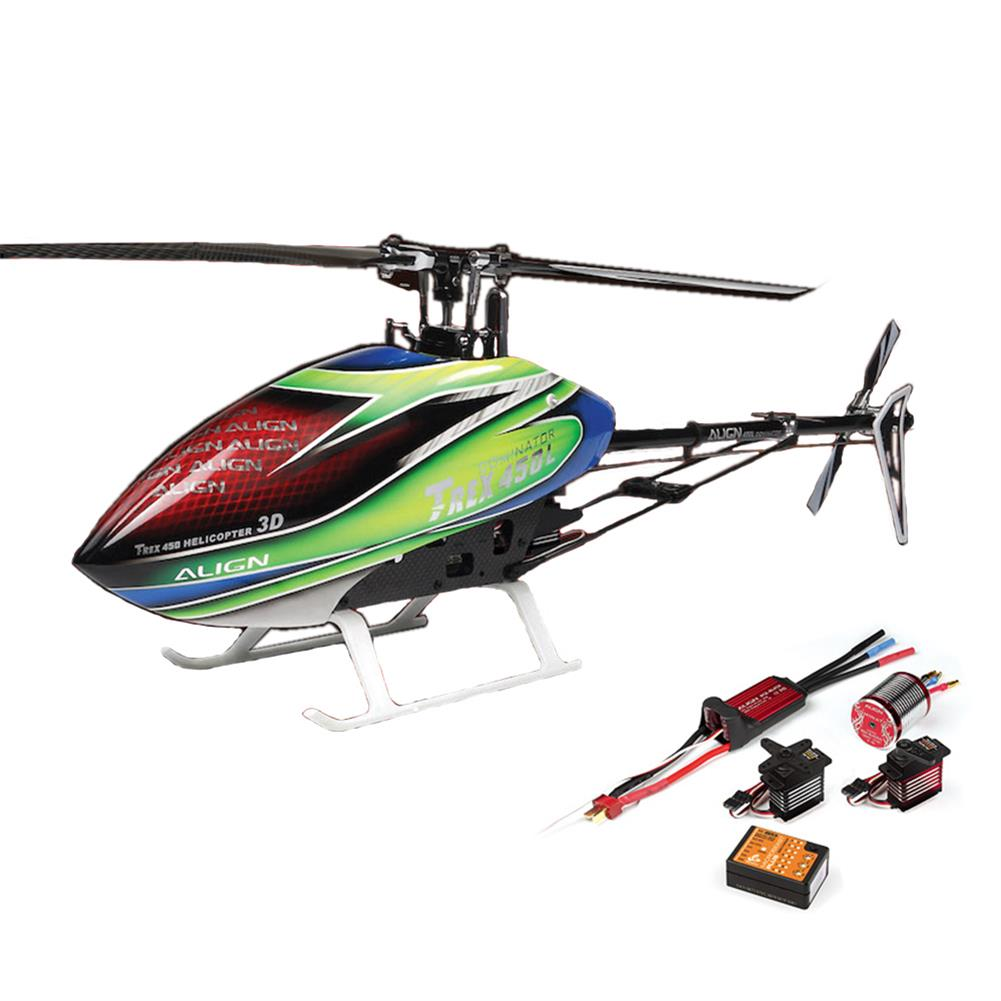 rc-helicopter Align T-REX 450L RC Helicopter Dominator Super Combo RC1270793