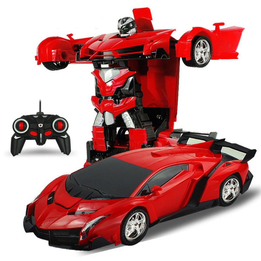 rc-cars Rastar 1/18 2 In 1 RC Car Wireless Sports Transformation Robot Model Deformation Truck Fighting Toy RC1271973