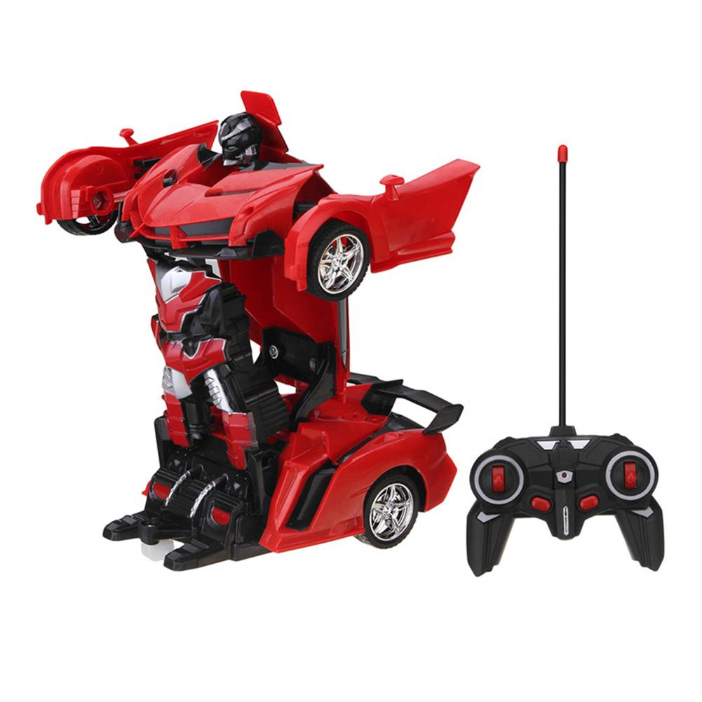 rc-cars Rastar 1/18 2 In 1 RC Car Wireless Sports Transformation Robot Model Deformation Truck Fighting Toy RC1271973 1