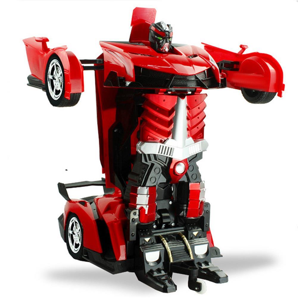 rc-cars Rastar 1/18 2 In 1 RC Car Wireless Sports Transformation Robot Model Deformation Truck Fighting Toy RC1271973 2