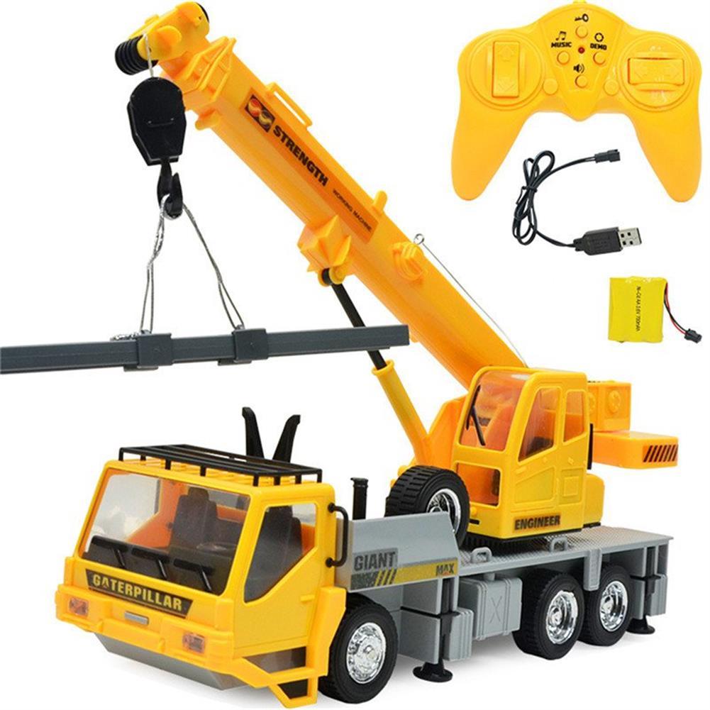 rc-cars 3822 1/24 2.4G 8CH RC Car Construction Crane Vehicles With Light Sound Toys RC1279967