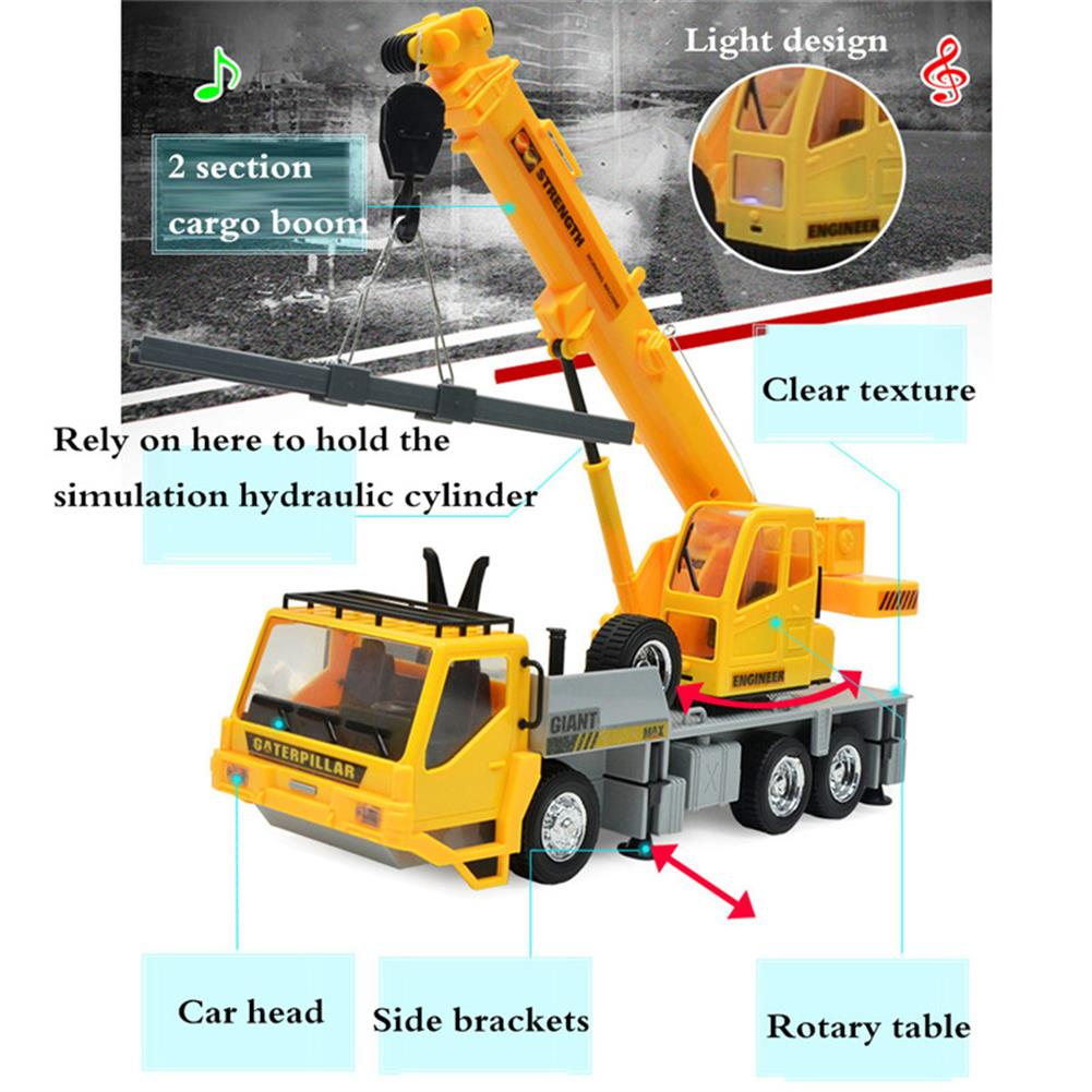rc-cars 3822 1/24 2.4G 8CH RC Car Construction Crane Vehicles With Light Sound Toys RC1279967 3