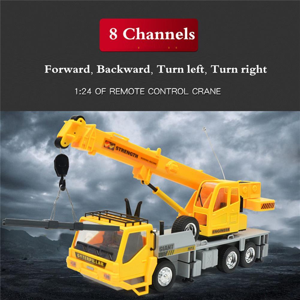 rc-cars 3822 1/24 2.4G 8CH RC Car Construction Crane Vehicles With Light Sound Toys RC1279967 4