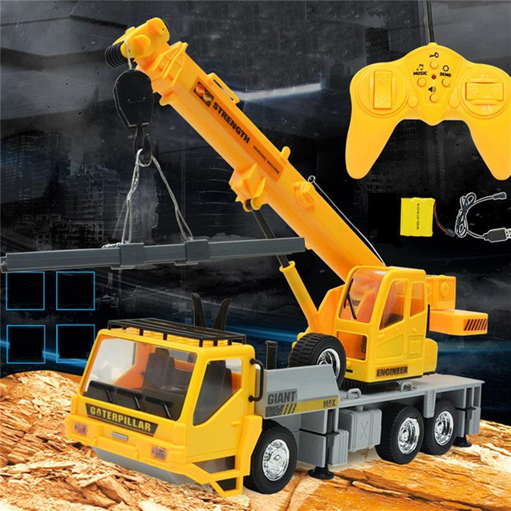 rc-cars 3822 1/24 2.4G 8CH RC Car Construction Crane Vehicles With Light Sound Toys RC1279967 5