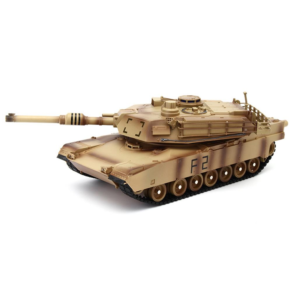 rc-tank ToogLi 1/24 27MHZ 40CM US M1A2 RC Car Tank With Light Sound Military Vehicle Model Toys RC1284914