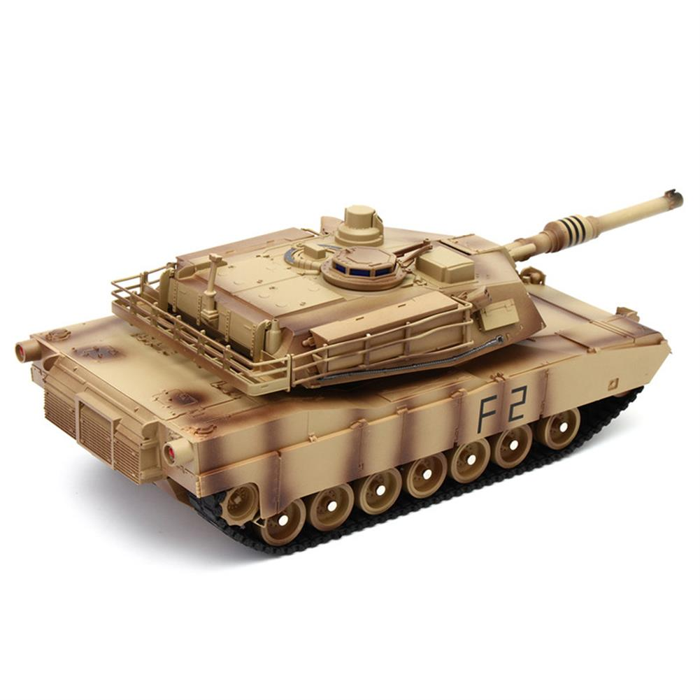 rc-tank ToogLi 1/24 27MHZ 40CM US M1A2 RC Car Tank With Light Sound Military Vehicle Model Toys RC1284914 1