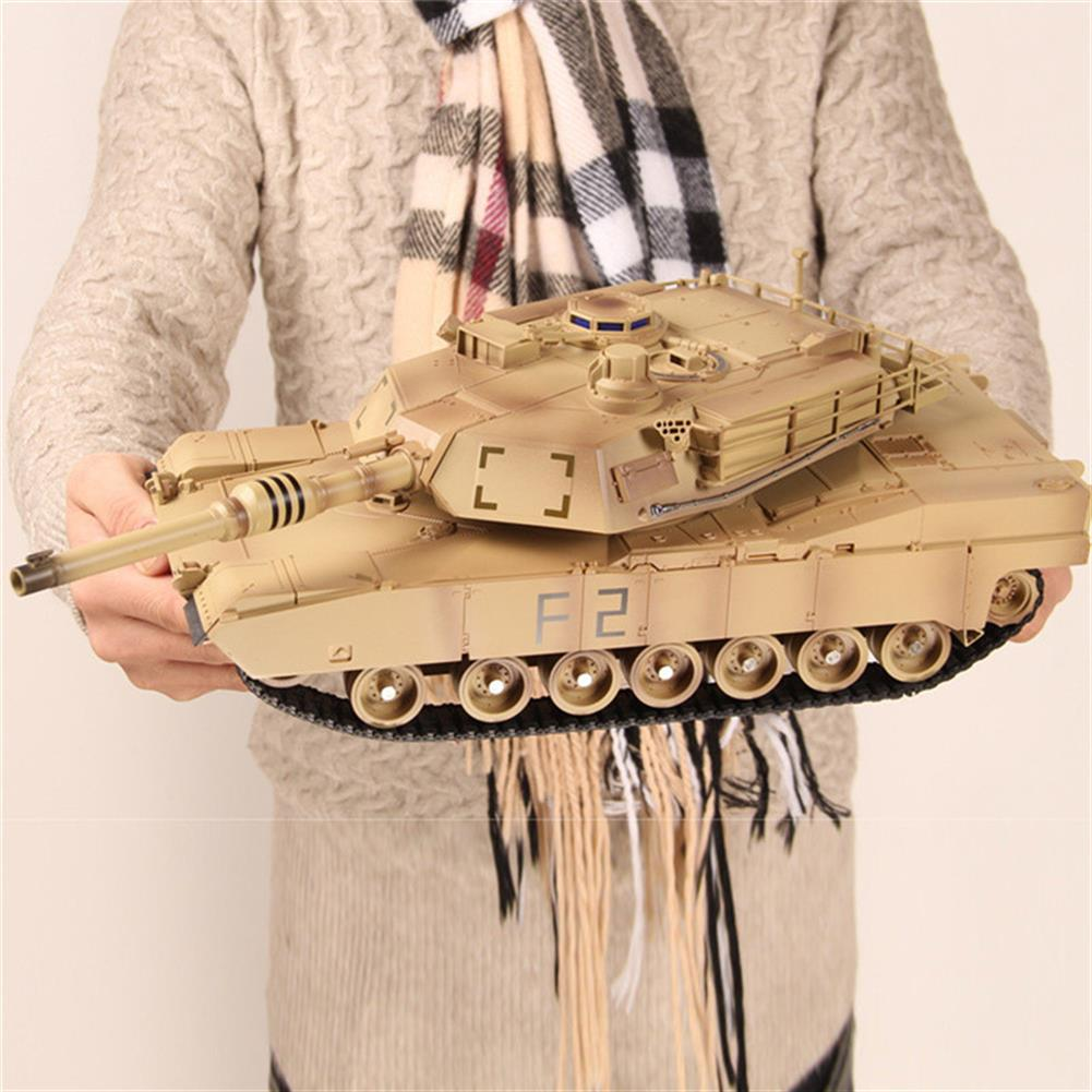 rc-tank ToogLi 1/24 27MHZ 40CM US M1A2 RC Car Tank With Light Sound Military Vehicle Model Toys RC1284914 7