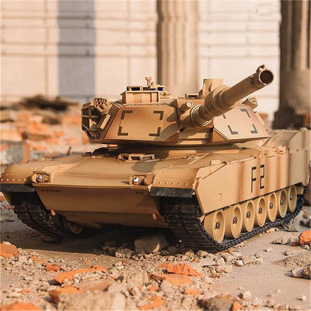 rc-tank ToogLi 1/24 27MHZ 40CM US M1A2 RC Car Tank With Light Sound Military Vehicle Model Toys RC1284914 8