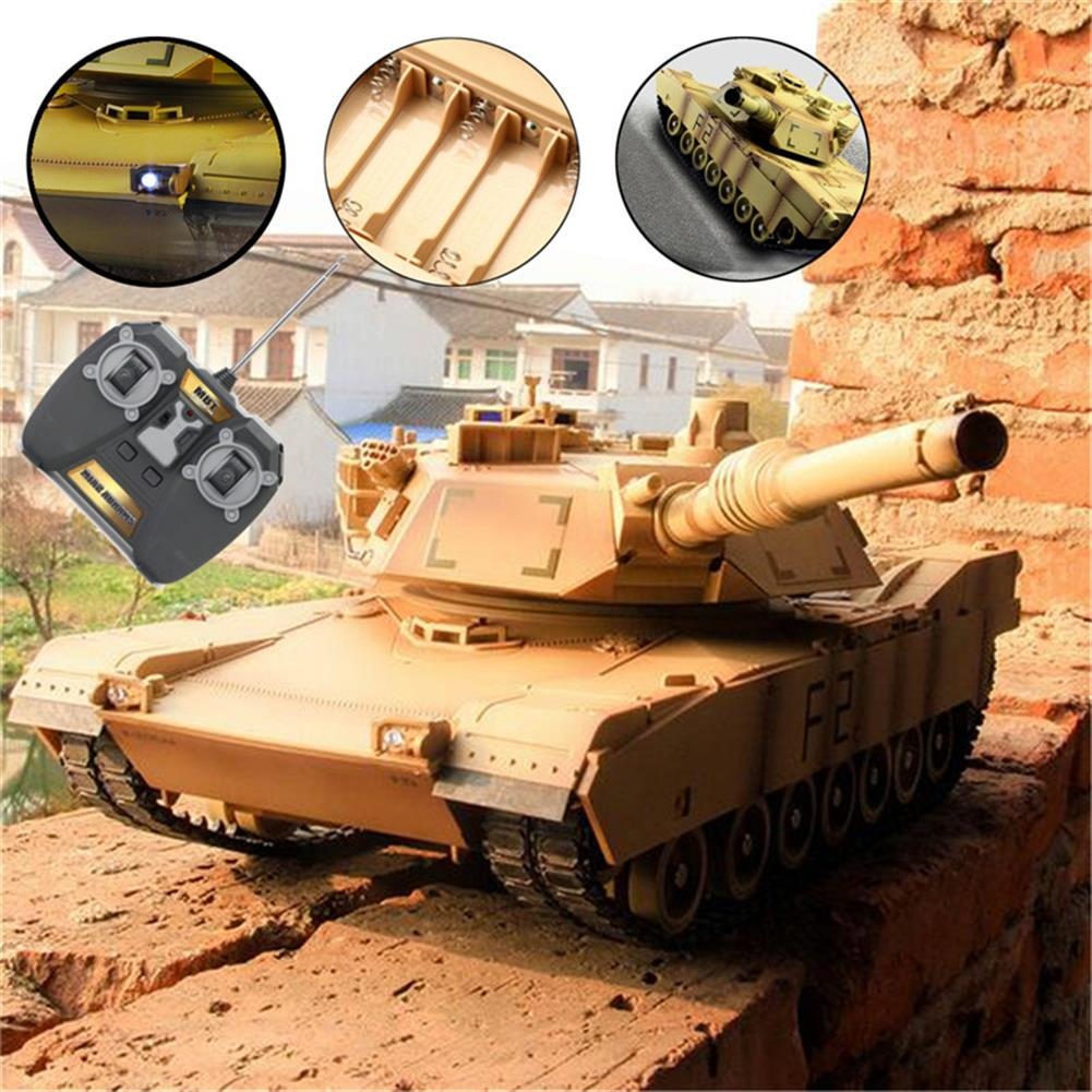 rc-tank ToogLi 1/24 27MHZ 40CM US M1A2 RC Car Tank With Light Sound Military Vehicle Model Toys RC1284914 9
