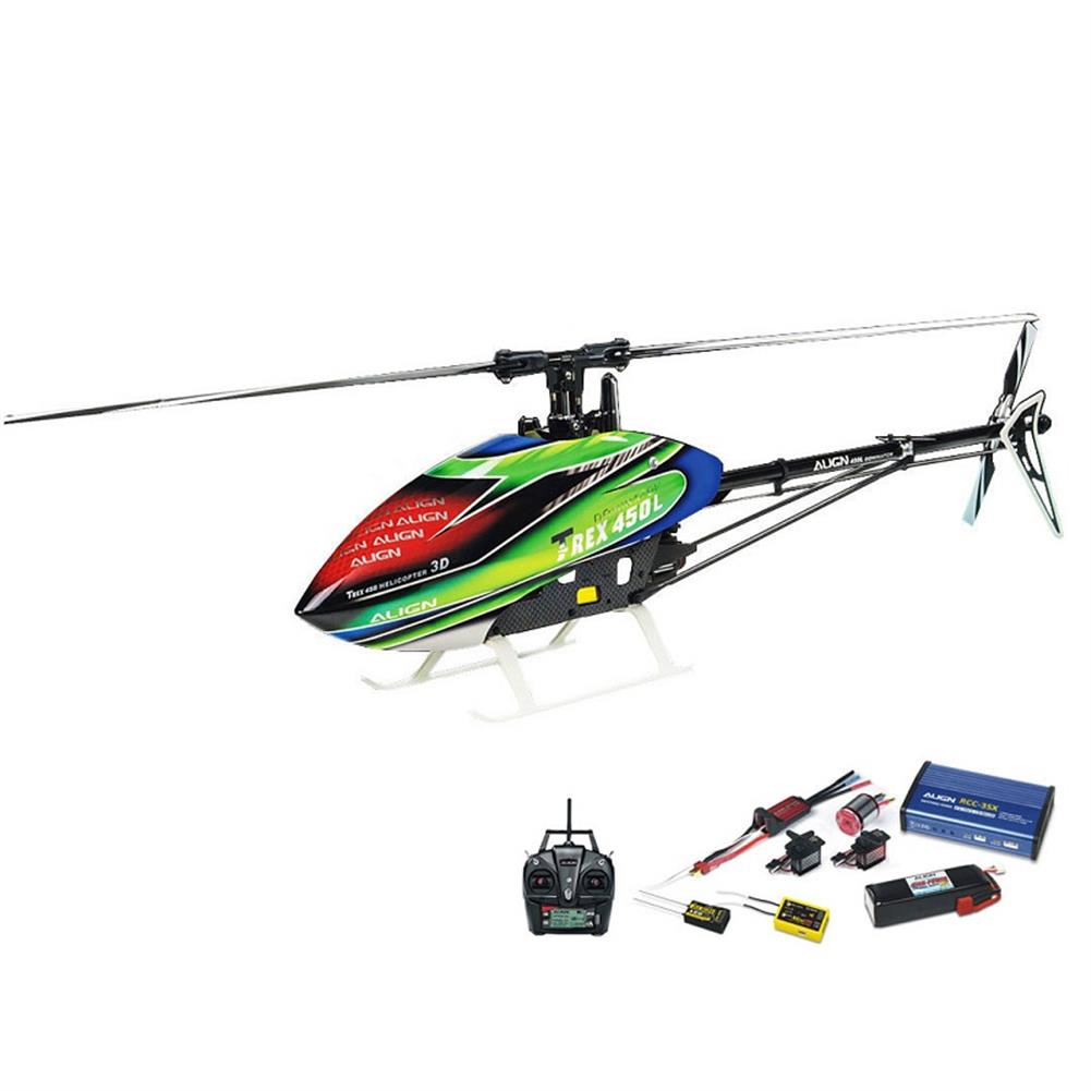 rc-helicopter ALIGN T-REX 450LP RC Helicopter RH45E32XW Dominator Super Combo RC1289181