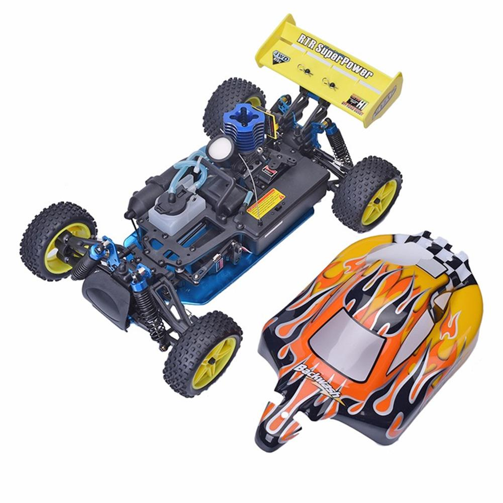rc-cars HSP Baja 94166 1/10 2.4G 4WD 400mm Rc Car Backwash Buggy Off-road Truck With 18cxp Engine RTR Toy RC1321406 3