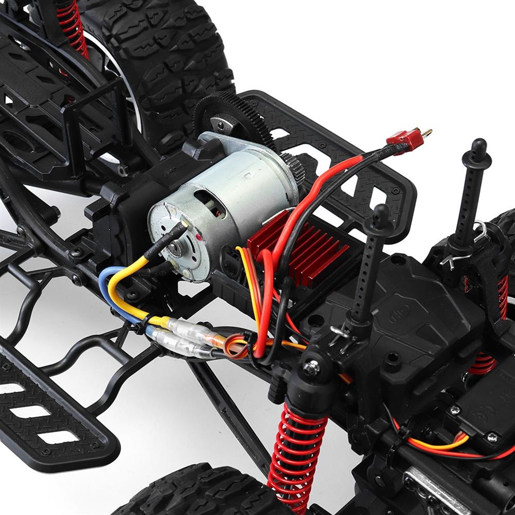 rc-cars HG P404 1/10 2.4G 4WD 46cm Apace Gallop 540 Brushed Rc Car 20km/h 4x4 Rock Crawler RTR Toy RC1325855 7