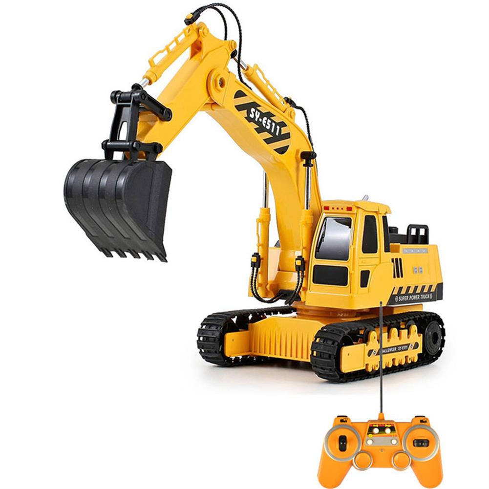 rc-cars Double Eagle E511-003 1/20 2.4G 8CH Rc Car Excavator Engineering Truck W/ Light Sound Toys RC1334690 1