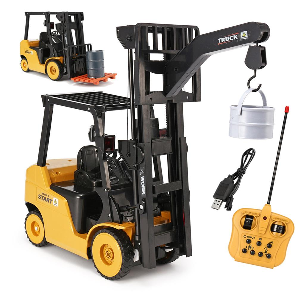 rc-cars Ao Hai 3828 1/8 11CH Rc Car Forklift Truck With Light Music Demonstration Toy RC1351718 1