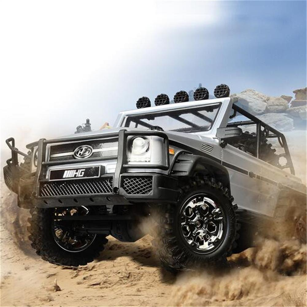 rc-cars HG P402 1/10 2.4G 4WD Rc Car 540 Brushed Rock Crawler Metal 4X4 Pickup Truck RTR Toy RC1352044 6