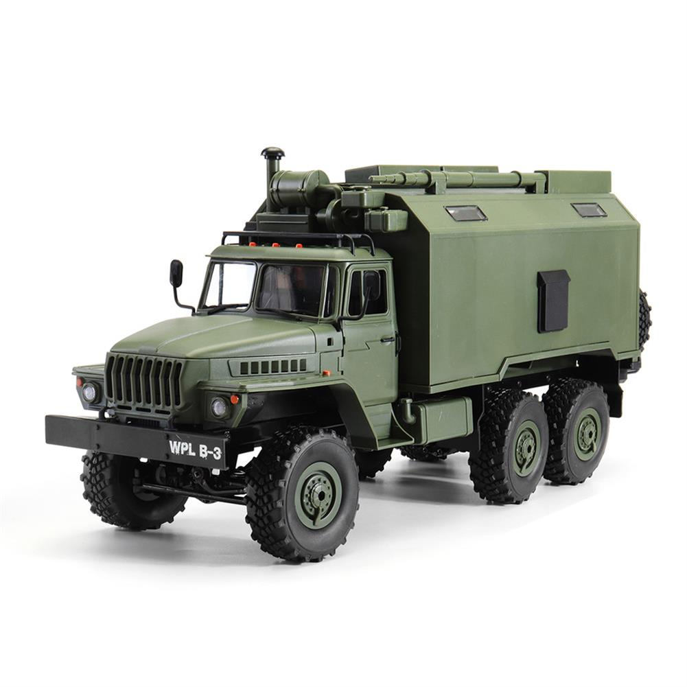 rc-cars WPL B36 Ural 1/16 2.4G 6WD Rc Car Military Truck Rock Crawler Command Communication Vehicle RTR Toy RC1353390 1