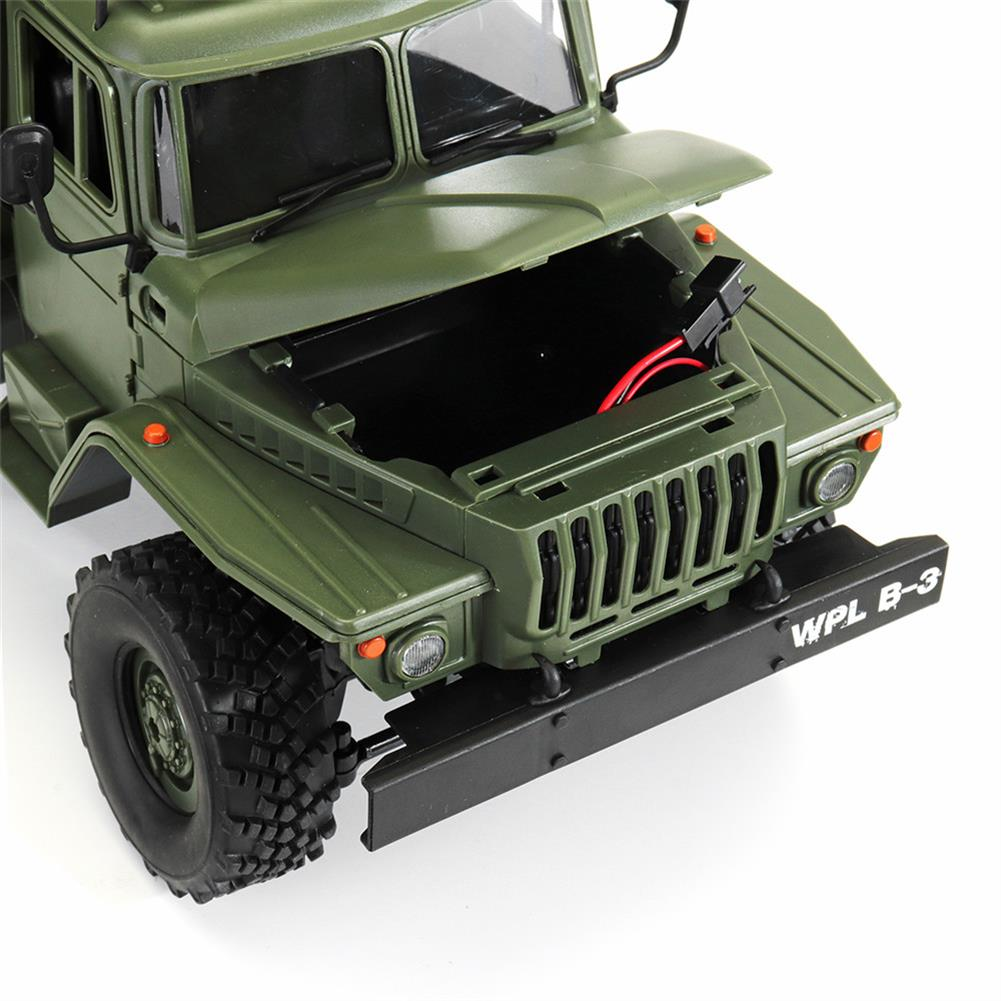 rc-cars WPL B36 Ural 1/16 2.4G 6WD Rc Car Military Truck Rock Crawler Command Communication Vehicle RTR Toy RC1353390 9