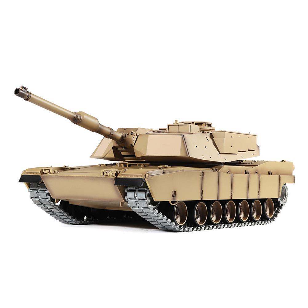 rc-tank Heng Long 3918-1 1/16 2.4G M1A2 Rc Car Battle Tank Metal Track with Sound Smoke Toy RC1360076