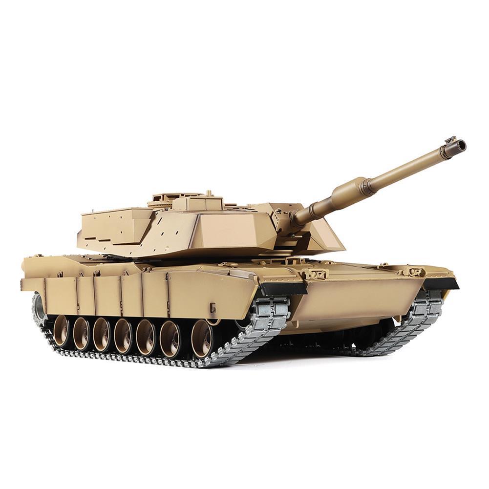 rc-tank Heng Long 3918-1 1/16 2.4G M1A2 Rc Car Battle Tank Metal Track with Sound Smoke Toy RC1360076 3