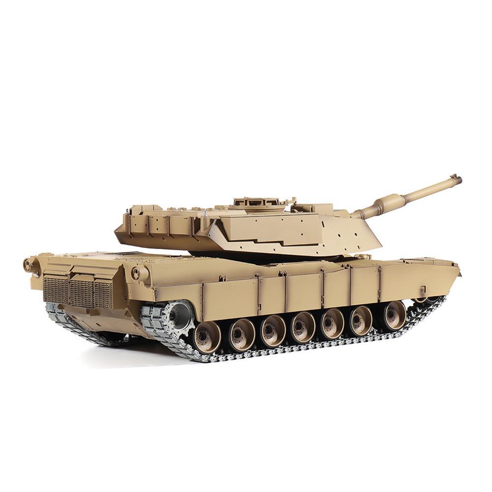 rc-tank Heng Long 3918-1 1/16 2.4G M1A2 Rc Car Battle Tank Metal Track with Sound Smoke Toy RC1360076 5