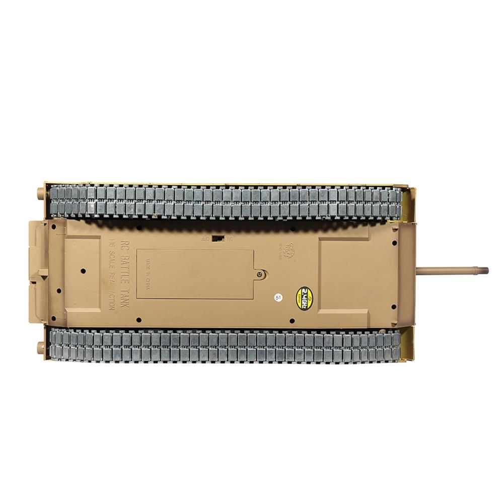 rc-tank Heng Long 3918-1 1/16 2.4G M1A2 Rc Car Battle Tank Metal Track with Sound Smoke Toy RC1360076 6