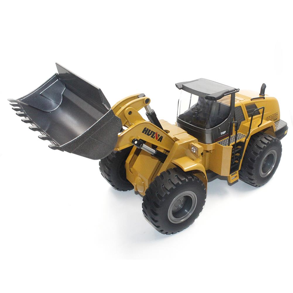 rc-cars HuiNa Toys 583 6 Channel 1/18 RC Metal Bulldozer Charging RC Car Metal Edition RC1366772 1