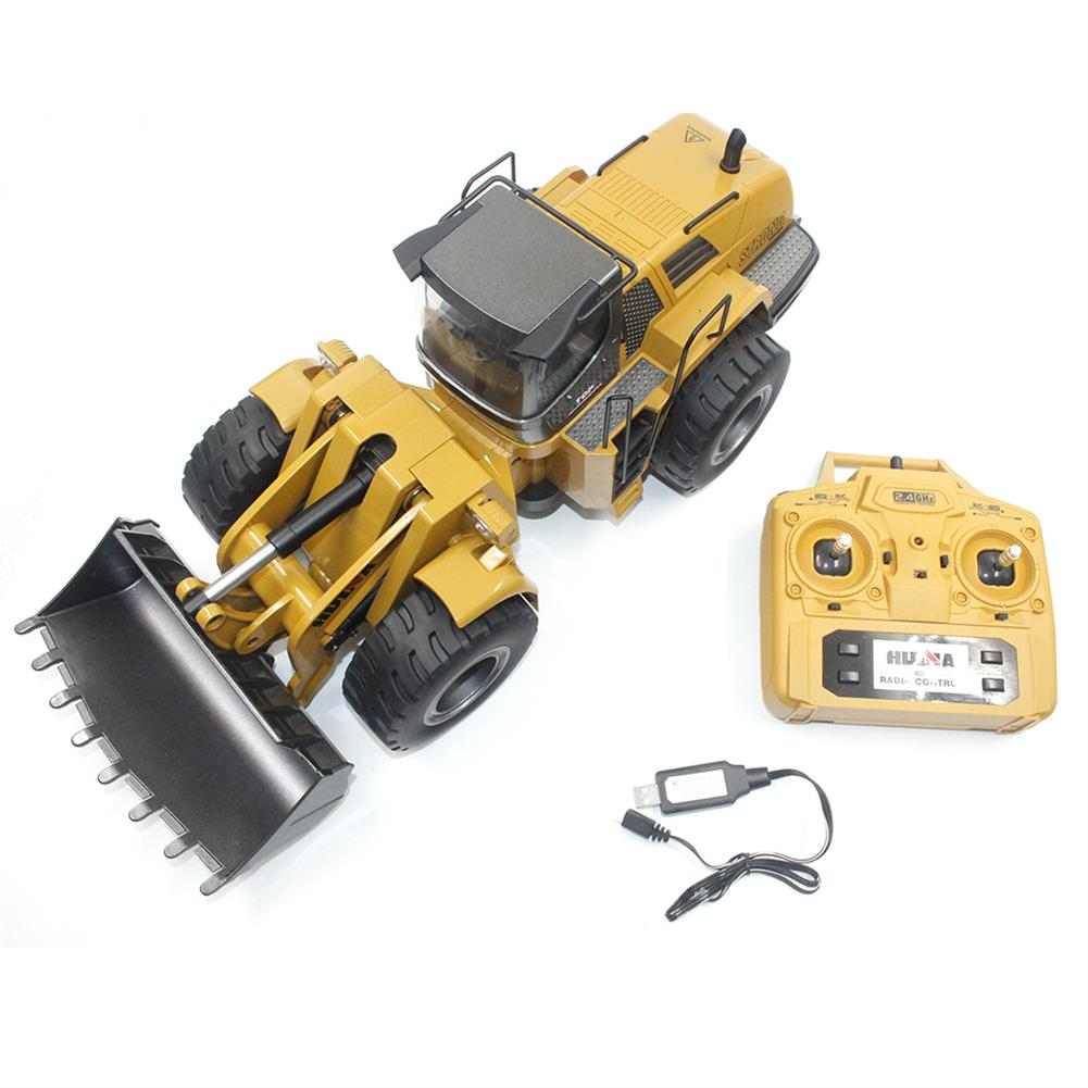 rc-cars HuiNa Toys 583 6 Channel 1/18 RC Metal Bulldozer Charging RC Car Metal Edition RC1366772 7
