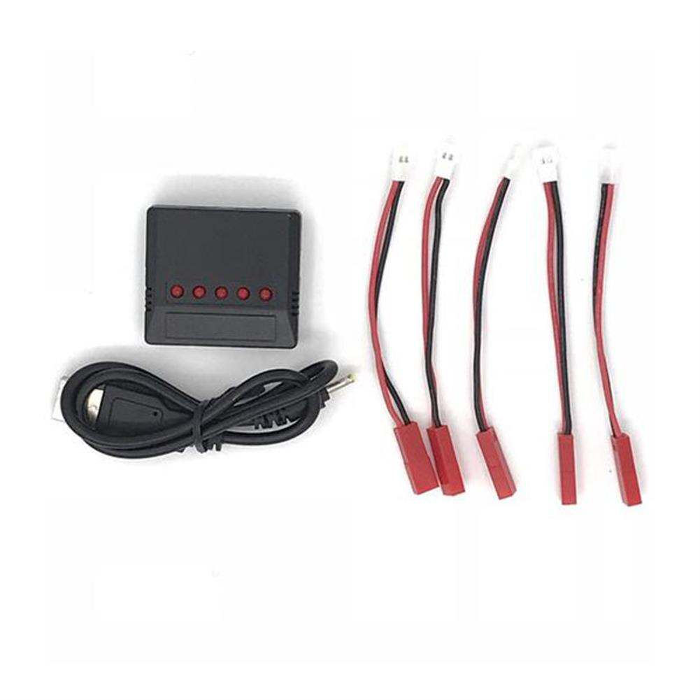 battery-charger 1 to 5 3.7V 1S LiPo Battery USB Charger with JST Charging Cable for Syma X5C X5SW UDI U817 V686G RC1372154