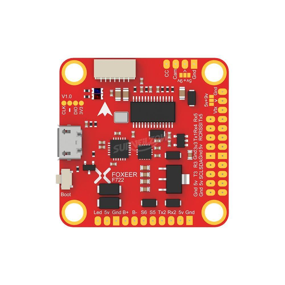 multi-rotor-parts Foxeer F722 Dual Flight Controller STM32F722RGT6 MPU6000 and ICM20602 OSD for RC FPV Racing Drone RC1379605