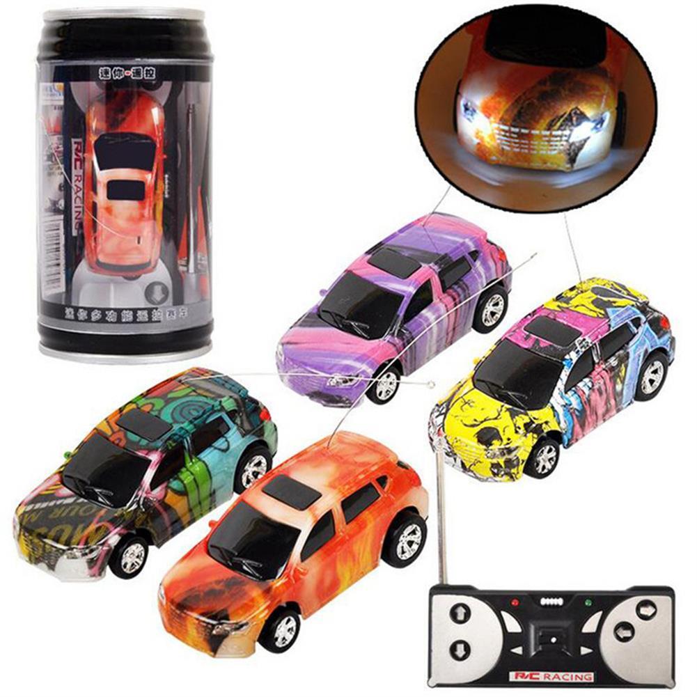 rc-cars 1PC Mini Coke Rc Car W/ LED Light Radio Control Micro Racing Toy Random Color RC1382442