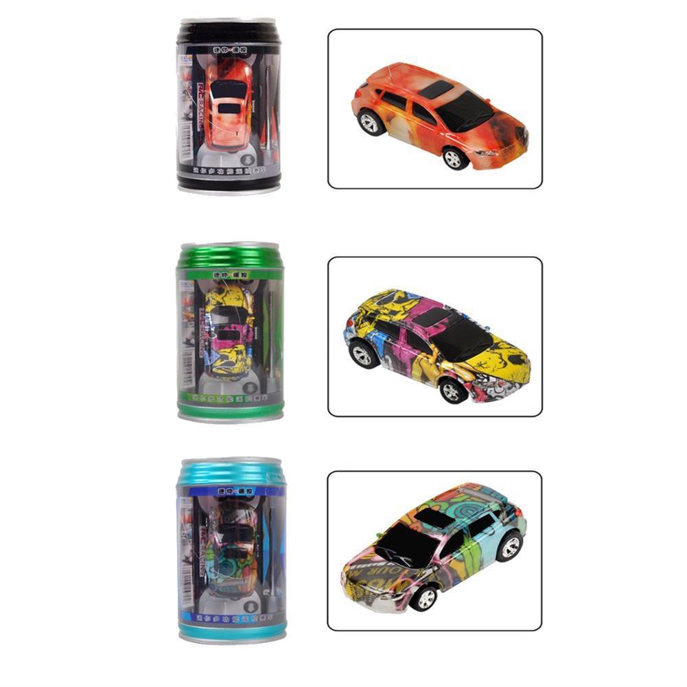 rc-cars 1PC Mini Coke Rc Car W/ LED Light Radio Control Micro Racing Toy Random Color RC1382442 1