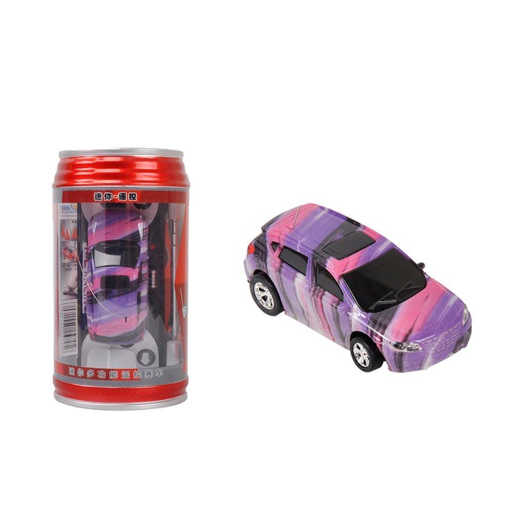 rc-cars 1PC Mini Coke Rc Car W/ LED Light Radio Control Micro Racing Toy Random Color RC1382442 2