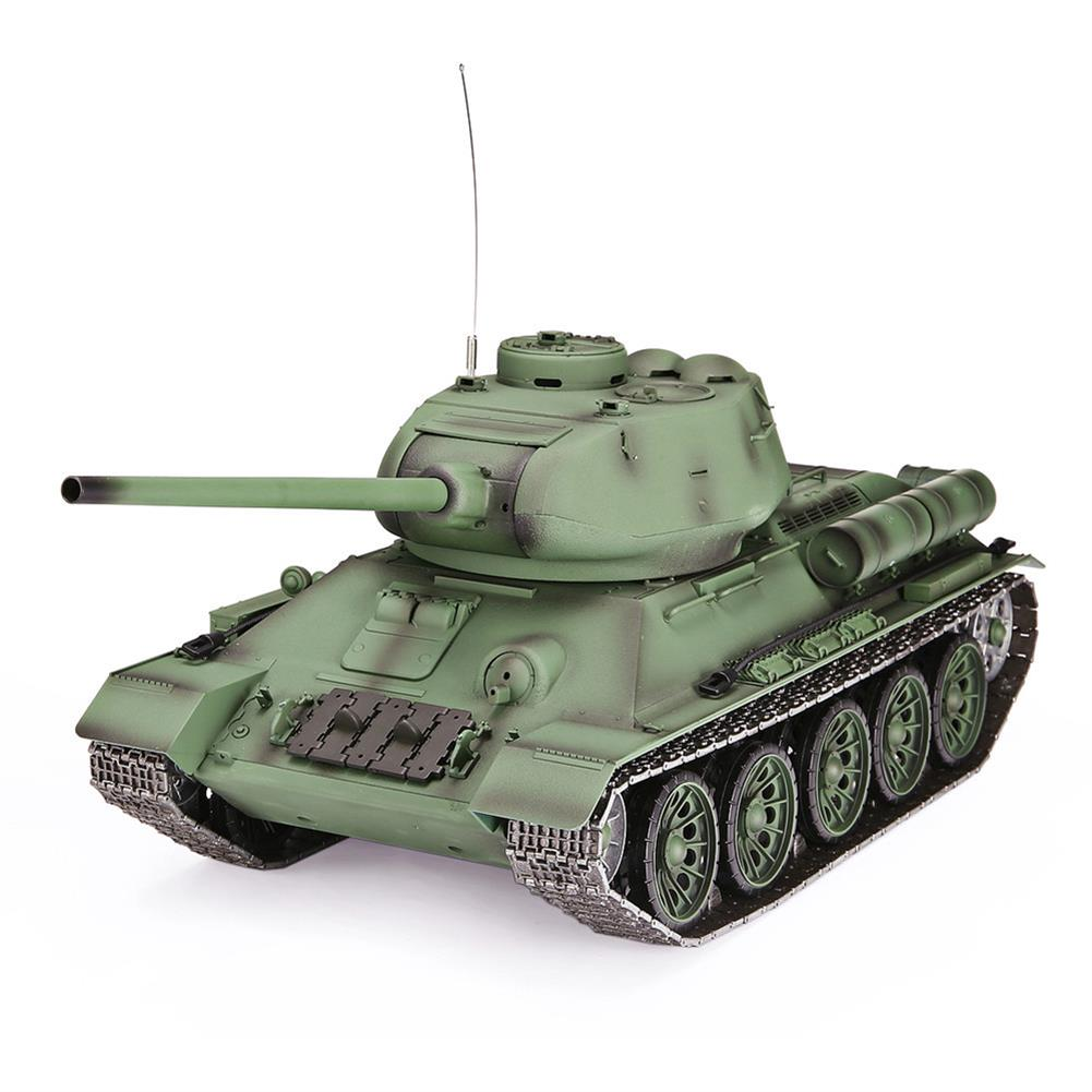 rc-tank Heng Long 3909-1 1/16 2.4G T-34 Rc Car Battle Tank Metal Track W/ Sound Smoke Toy RC1382973