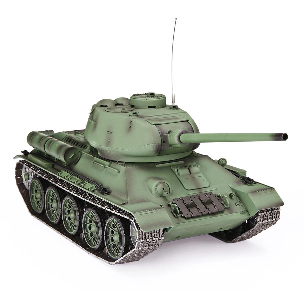 rc-tank Heng Long 3909-1 1/16 2.4G T-34 Rc Car Battle Tank Metal Track W/ Sound Smoke Toy RC1382973 1