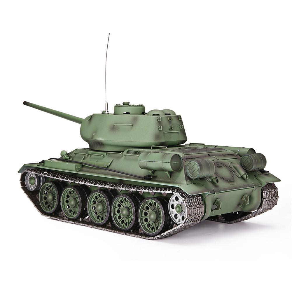rc-tank Heng Long 3909-1 1/16 2.4G T-34 Rc Car Battle Tank Metal Track W/ Sound Smoke Toy RC1382973 2