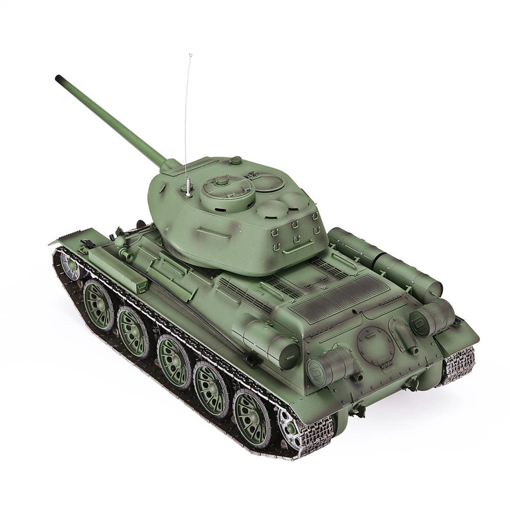 rc-tank Heng Long 3909-1 1/16 2.4G T-34 Rc Car Battle Tank Metal Track W/ Sound Smoke Toy RC1382973 4